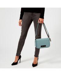 COACH Blue Swagger Shoulder Bag