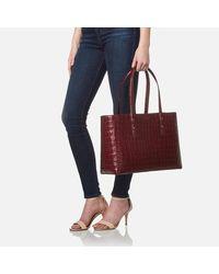 Aspinal | Red Women's Regent Croc Tote Bag | Lyst