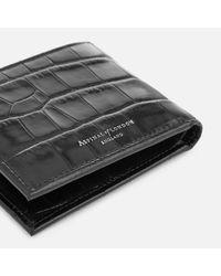 Aspinal - Black Billfold Wallet for Men - Lyst