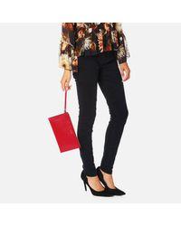Furla Red Babylon Xl Envelope Clutch Bag