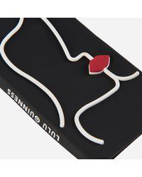 Lulu Guinness - Black Kissing Lips Iphone 6/7 Case - Lyst