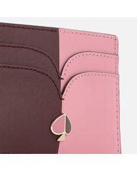 Kate Spade Purple Nicola Bi Colour Card Holder