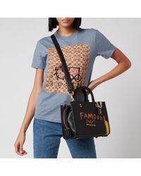 COACH Black Coach X Basquiat Famous Crown Rogue Bag 25