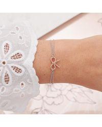 Olivia Burton Multicolor Vintage Bow Chain Bracelet