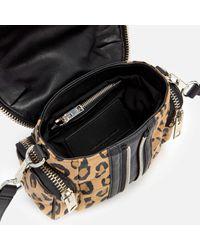Alexander Wang Multicolor Micro Marti Leopard Print Suede Shoulder Bag