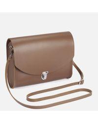 Cambridge Satchel Company Brown Women's Large Push Lock Crossbody Bag