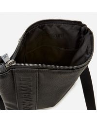 Emporio Armani Black Small Flat Messenger Bag for men