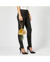 The Volon Metallic Cindy Feather Bag