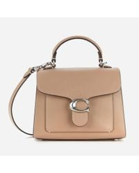 COACH Gray Mixed Leather Tabby Top Handle 20 Bag