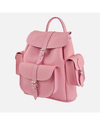Grafea Pink Lemonade Medium Leather Rucksack
