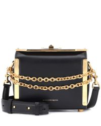 Alexander McQueen Black Box 19 Leather Shoulder Bag