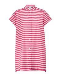 Camicia Vincita a righe in misto cotone di Max Mara in Pink