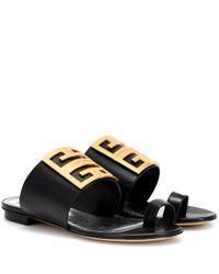 Givenchy Black Sandalen 4G aus Leder