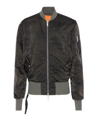 Unravel - Green Camouflage Bomber Jacket - Lyst