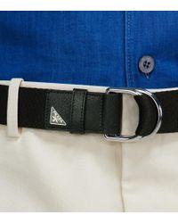 Cintura in tessuto tecnico di Prada in Black da Uomo