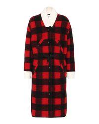 Étoile Isabel Marant - Red Glitz Wool-blend Coat - Lyst
