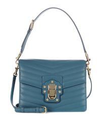 Dolce & Gabbana Blue Ledertasche Lucia