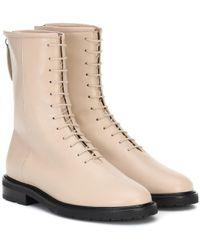 LEGRES Natural Ankle Boots Combat aus Leder