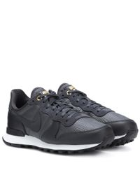 Nike - Black Internationalist Leather Sneakers for Men - Lyst