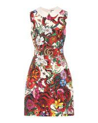 Gucci Red Minikleid aus Wolle und Seide