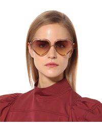 Chloé Pink Poppy Heart-shaped Sunglasses