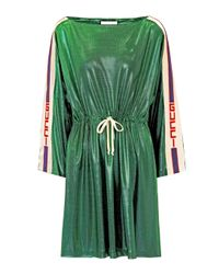 Gucci Green Embellished Minidress