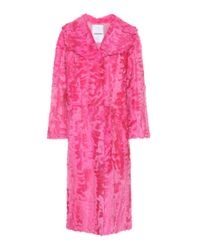Valentino Pink Fur Coat