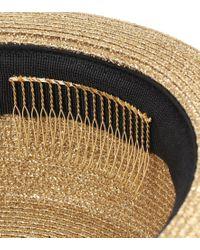 Cappello in lamé di Saint Laurent in Metallic