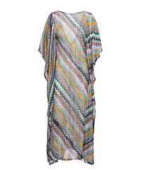 Caftano lungo in maglia di Missoni in Multicolor