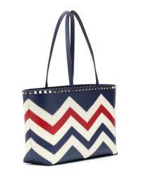 - Shopper Rockstud Small in pelle di Valentino in Blue