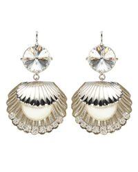 Miu Miu - Metallic Crystal-embellished Earrings - Lyst