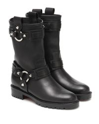 Christian Louboutin Black Ankle Boots Bikita aus Leder