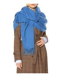 Bufanda Canada New de lana Acne de color Blue