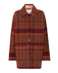 Acne Brown Mantel aus einem Wollgemisch
