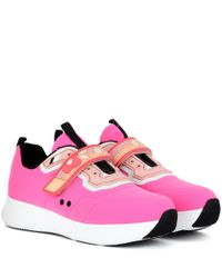 Prada Pink Embellished Sneakers