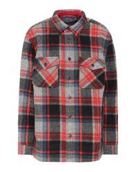 Polo Ralph Lauren Red Karierte Bluse aus Wolle