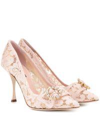 Dolce & Gabbana Pink Pumps Lori aus Spitze