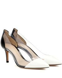 Gianvito Rossi - Black Exclusive To Mytheresa. Com – Plexi 70 Leather And Transparent Pumps - Lyst