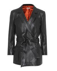 Ganni Black Passion Leather Jacket
