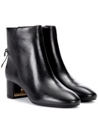 Tory Burch | Black Laila Leather Ankle Boots | Lyst