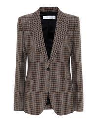 Victoria Beckham Black Checked Wool Blazer