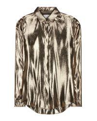 Saint Laurent Metallic Silk-blend Shirt
