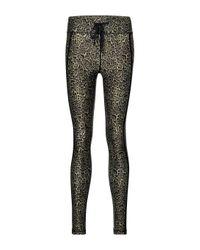 The Upside Black Leopard-print leggings