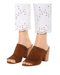 Tory Burch Brown Huntington 90 Suede Sandals