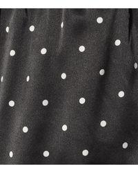 Shorts de seda de lunares Asceno de color Multicolor