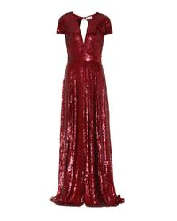 Robe longue Ray à sequins Temperley London en coloris Red