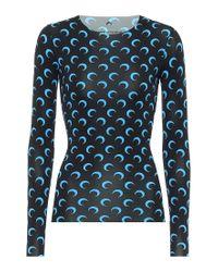 Top a stampa in jersey di MARINE SERRE in Blue