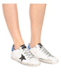 Zapatillas Superstar de piel Golden Goose Deluxe Brand de color White
