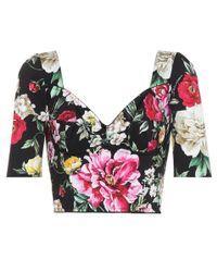 Dolce & Gabbana Multicolor Floral-printed Crop Top