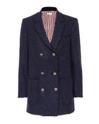 Blazer en laine et mohair Thom Browne en coloris Blue